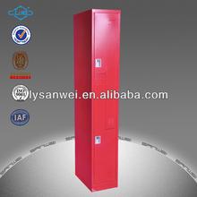 new design 2 doors z shape red steel locker