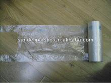 Popular plastic vest bag on roll for Europe