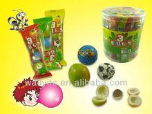 3 in1 New Candy -Jujube Shape Chewing Gum&Football/Globe Ball Chocolate