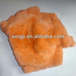 rex rabbit fur skin dyed orange color rex rabbit for fur coat