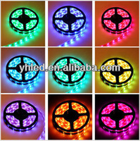 High voltage waterproof outdoor rgb led strip 5050 illumination for cafeterias
