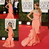 RD 0522 Jessica Alba Sexy Mermaid Peach 2013 Golden Globe Awards Backless Celebrity Red Carpet Dresses