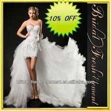 Hot Sale Good Quality Lace Sweetheart Elegant Short Wedding Dress Long Train