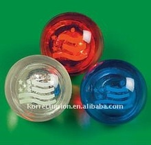 promotional high rubber picture bouncing ball with flashing light
