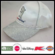 fashion baseball cap satin baseball screen print cap