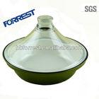 Cast iron green enamel tagine cookware