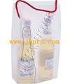 de plástico de regalo la bolsa de embalaje para el vino con el mango