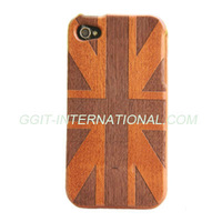 Hot Sell Mobile Phone Wooden Case for iPhone 4S Back Cover