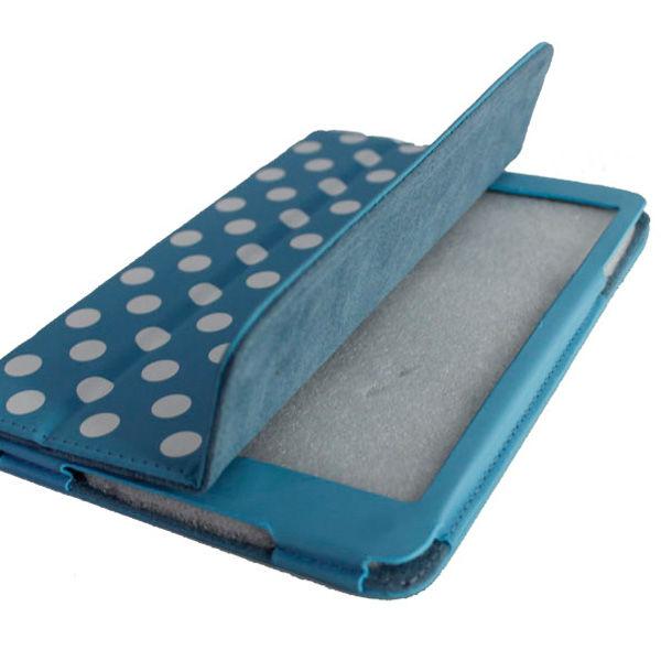Polka dot flip PU leather case for ipad 2 3 4