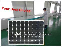 High efficiency Mono solar panel 130w with TUV CEC CE