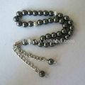 33 pcs venta al por mayor de hematita musulmana oración islámica de cuentas del rosario islámico pulsera joyería