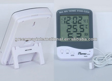 Digital in out probe maximum minimum advertising thermometers