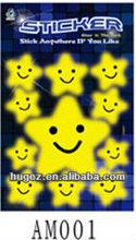 Glitter sticker/glow in the dark adhesive star sticker