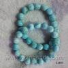 China dyed jade jewelry ,4*7mm roundle larimar gemstone beads