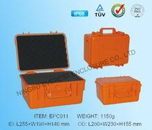 Hard plastic equipment case with foam insert