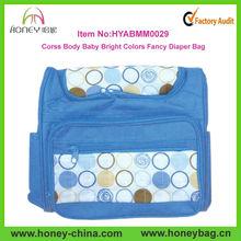 New Design Blue Stylish Cross Body Baby Bright Colors Fancy Diaper Bag