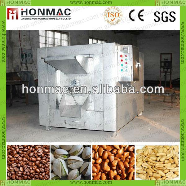 Paslanmaz çelik Otomatik ayçiçeği çekirdeği kavurma/kakao çekirdeği kavurma/soya kavurma