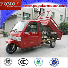 three wheel cargo motorcycle with closed driver cabin