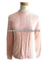 high collar long sleeve tight pullover sweater women