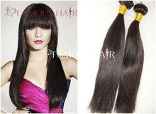 Best quality virgin european italian yaki human Hair Extension with full bang