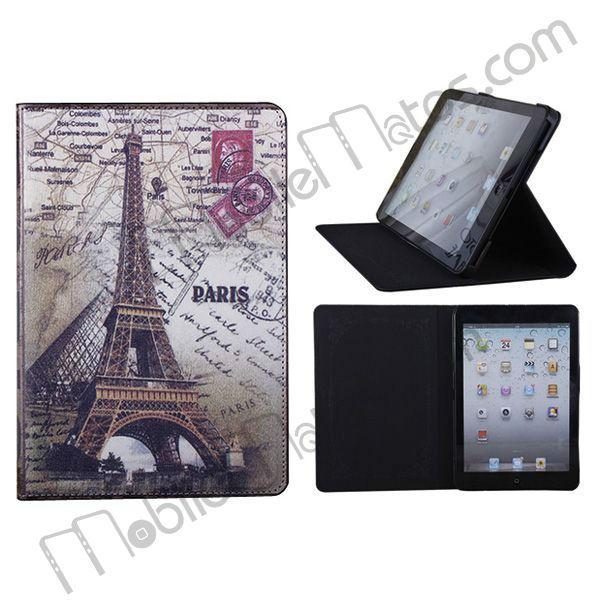 Romantic Eiffel Tower Flip Stand Leather Case For iPad Mini Flip Leather Case