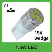 T10 wedge 1.5W high power auto led lighting