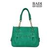 Bolsa feminina 2014 green vintage retro women bag metal chain handbag ladies shoulder bag