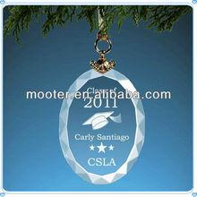 Vidro gravado Oval a graduação ornamento para presentes da graduação