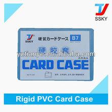 Fashionable Business Hard PVC Card Case Holder