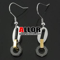 Fashion Girls Three Tone Surgical Steel Earrings