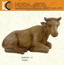 "4"" Religious Nativity Cow, Resin Cow Figurine"