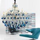 Modern Blue Crystal Glass Chandelier Light