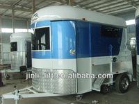 2 horse angle load float- standard used box trailer. horse floats china