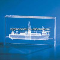 3D laser engraving crystal ship model