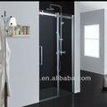 vidrio de la ducha con puertas correderas con marco de aluminio