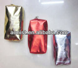 Satin Gold and silver wallet/purse/pouch