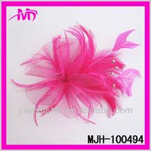 2013 Fashion wholesale bridal hair flower feather fascinators