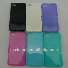 tranparent inner matt mobile phone cover for blackberry z10