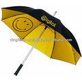 مبتسم الوجه مظلة مظلة مزدوجة، سعيد يتوهم مظلة الصفراء