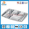 square shape stainless steel wholesale dinner plates