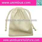 "3""*4"" small plain cotton muslin drawstring pouch"