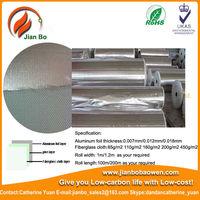 Aluminum foil laminated fiberglass acoustic and thermal insulation materials
