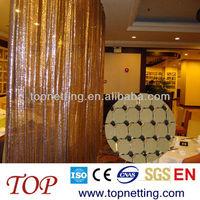 aluminum metallic curtains / room divider for hotel/ home decoration