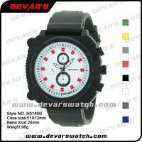 2013 correa de reloj de caucho natural rubber watch strap pulseira de relogio borracha H3149G