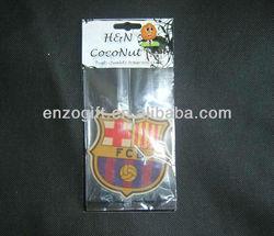 custom Football Club Logo Hanging Car Freshener, Auto Perfume Card