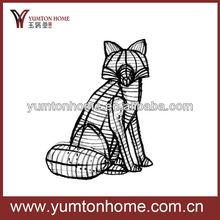 metal decorative wire fox