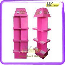 pink cardboard display stand