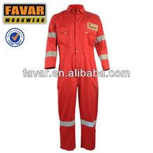 EN533 Red Oil Field Anti-flame Coverall High Vis Work Garment