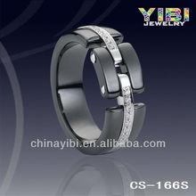 black wedding ceramic ring,silver jewelry 925 horse black ceramic ring diamond price per carat