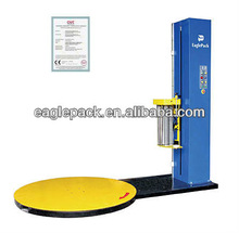 Factory Price CE Certificate Mobile Electric Turntable Semi Automatic Stretch Plastic Film Pallet Packing Machine